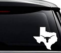 Amazon Com Texas State Longhorn Map Decal Sticker For Use On Laptop Helmet Car Truck Motorcycle Windows Bumper Wall And Decor Size 8 Inch 20 Cm Wide Color Gloss White Arts