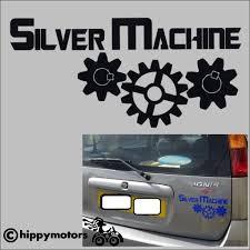 Silver Machine Decal Made From High Grade External Colourfast Vinyl