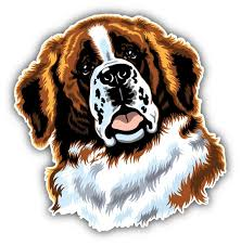 Saint Bernard Dog Head Animal Car Bumper Sticker Decal 3 Or 5 Home Garden Decor Decals Stickers Vinyl Art