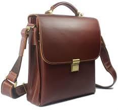 portfolio men leather briefcase handbag