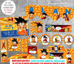 Kit Imprimible Dragon Ball Z Solo Textos Editables 220 00 En
