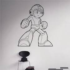 Mega Man Game Wall Decal Comics Superhero Wall Vinyl Sticker Retro Game Home Interior Children Kids Room Wall Decor Wall Decor Kid Room Wall Decorationwall Decals Aliexpress
