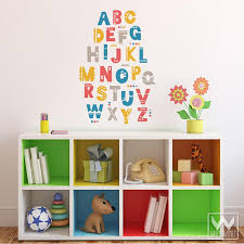 Shifting Shapes Alphabet Letters For Nursery Vinyl Wall Decal Sticker Wallternatives