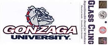 Amazon Com Sportsfan Supplies Gonzaga Bulldogs Repositionable Window Decal Large Sports Outdoors
