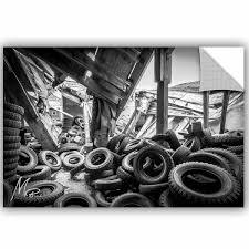 Artwall Michael Beach Abandoned Tires Removable Wall Decal Wayfair
