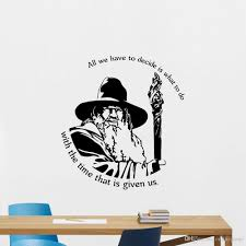 Lord Of The Rings Gandalf Quote Wall Decal Vinyl Home Decor For Kids Room Movie Poster Wall Sticker Removable Mural Boys Wall Stickers Butterfly Wall Decals From Onlinegame 14 2 Dhgate Com