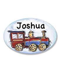 The Kids Room By Stupell Train Personalized Oval Wall Art Zulily