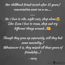 her childhood friend text quotes writings by harini md