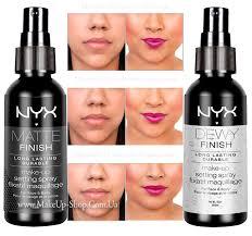 nyx makeup setting spray dewy finish