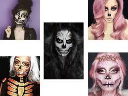 skull skeleton halloween makeup ideas