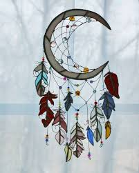 dream catcher stained glass sun catcher