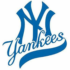 Blue New York Yankees Vinyl Sticker Decal 3 X4 Ebay