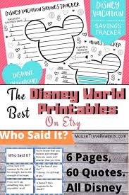 the best disney world printables from • mouse travel matters
