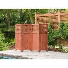 Leisure Season Folding Patio And Garden Privacy Screen Ps9662 The Home Depot