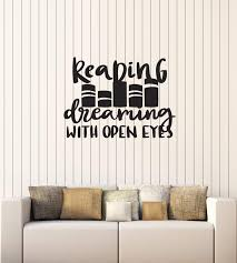 Amazon Com Vinyl Wall Decal Reading Quote Read Book Shop Library Decoration Art Stickers Mural Large Decor Ig5477 Home Kitchen