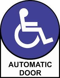 5inx6 5in Handicap Automatic Door Sticker Vinyl Sign Decal Doors Stickers Walmart Com Walmart Com