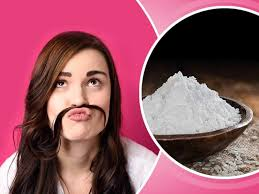 removing unwanted hair with rice flour