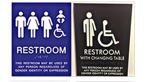 neutral gender bathroom signs