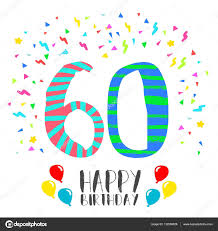 Fiesta Para 60 Anos Feliz Cumpleanos Para La Tarjeta De