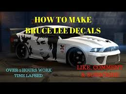Nitro Nation Bruce Lee Decal Tutorial Customizing Cars Youtube