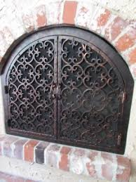 decorative fireplace screens wrought