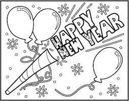 Happy New Year Kleurplaten Nieuwjaarsknutsels Gelukkig Nieuwjaar
