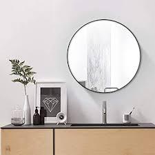 simmer stone wall mount round mirror