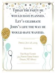 celebration of life party ideas