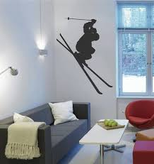 Ik2424 Wall Decal Sticker Skier Skiing Sport Sports Shop Living Stickersforlife