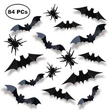 Joyin 84 Assorted Halloween Diy Scary Wall Bats Spiders Wall Decal Wall Stickers Pvc 3d Halloween Eve Decoration Include 90 Double Sided Stickers Store 1 Net
