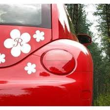 Flower Car Decal With Initial Jack And Jill Boutique