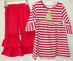 southern tots red white stripe dress