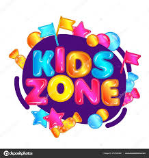 Kids Zone Colorful Game Playground Sign With Candy Stars And Flags Stock Vector C Sabelskaya 277322480
