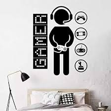 Amazon Com Gamer Wall Decals Controller Video Game Wall Sticker For Playroom Boys Room Wall Decor Diy Wall Art Arts Crafts Sewing