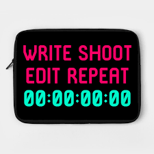 write shoot edit video editing funny quote editor laptop case