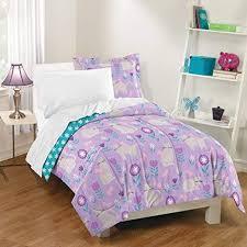 un 5 piece turquoise purple cat pattern