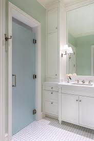 frosted glass shower door