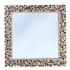 brown wall mirror square mirror