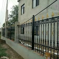 Vova Cast Iron Guardrail Small Rea Wrought Iron Guardrail Pig Iron Garden Fence Ball Ink May Steel Guardrail Courtyard Wall Guardrail Custom