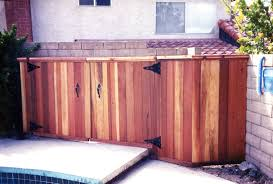 Pool Equipment Fence Ideas Woodsinfo