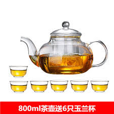 heat resistant thickened flower teapot