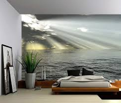 Seascape Ocean Rays Of Light Large Wall Mural Self Adhesive Etsy Large Wall Murals Wall Murals Fabric Wall Decals