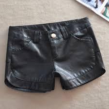 plus size women faux leather shorts