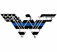Evan Decals Thin Blue Line Tattered Flag Style Wonder Woman Window Decal Vinyl Sticker 4 Buy Online In Albania Evan Decals Products In Albania See Prices Reviews And Free