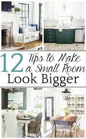 how to make a small room look bigger