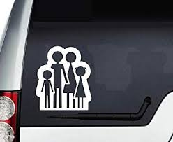 Amazon Com In Style Decals Vinyl Decal Art Sticker 4 8 X 5 5 Family Holding Hands Mother Father Son Daughter Removable Design For Car Truck Window Bumper Laptop Wall 3126 Automotive