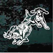 Rabbit Hunting Decals Stickers Decal Junky