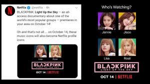 Blackpink Netflix documentary teaser poster