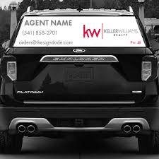 Keller Williams Realty Superior Vehicle Rear Window Graphics