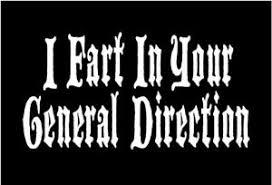 Funny Monty Python Decal I Fart In Your General Direction Vinyl Car Sticker Ebay